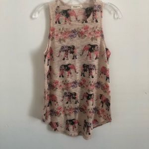 Ginger G small floral pattern elephant print tank